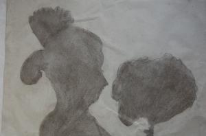 dibujo sombra ficticia_fallera con flores